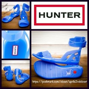 Hunter blue sandals